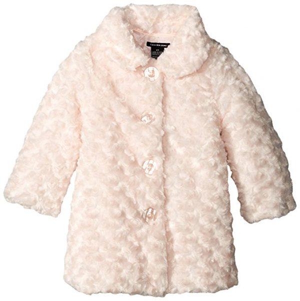 Calvin Klein kislány rózsaszín műszőrme télikabát