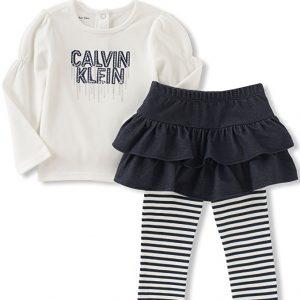 Calvin Klein márkás babaruha kislány kétrészes szoknyás együttes