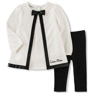 Új, címkés, eredeti Calvin Klein kislány babaruha kétrészes együttes