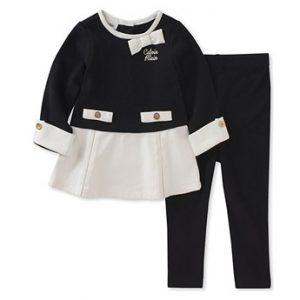 Calvin Klein márkás babaruha kislány kétrészes együttes tunikával