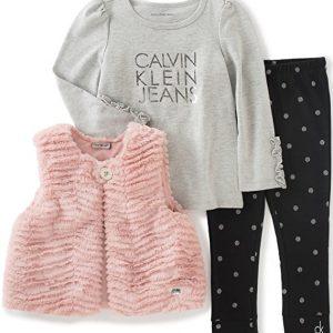 Új, eredeti, címkés Calvin Klein kislány babaruha háromrészes együttes