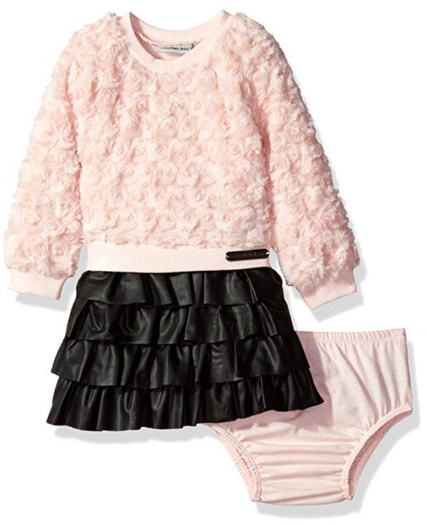 Új, eredeti, címkés Calvin Klein kislány babaruha, hosszú ujjú ruha