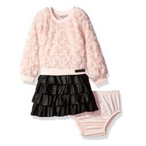 Calvin Klein márkás babaruha kislány, hosszú ujjú ruha, pelenkatartó bugyival