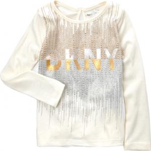 Új, eredeti, címkés DKNY kislány vajszínű hosszú ujjú felső.