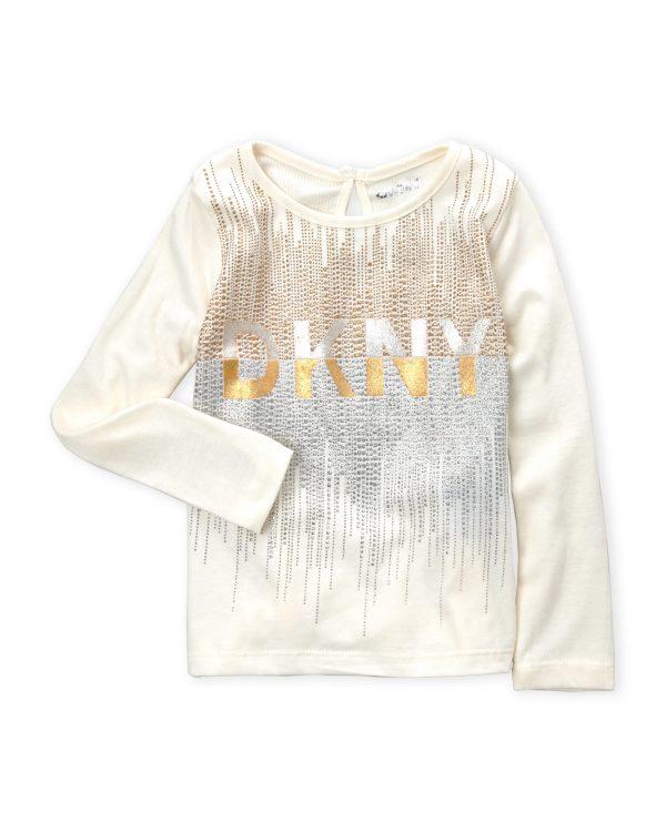 Eredeti új címkés DKNY mintás vajszínű hosszúujjú