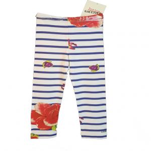 Eredeti, új, címkés Junior Gaultier babaruha, virágmintás leggings