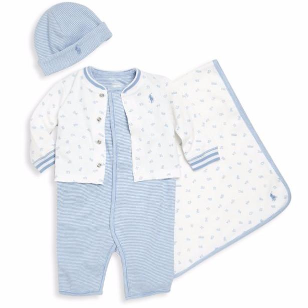 536ba4c128 Eredeti új címkés Ralph Lauren márkás babaruha ajándék szett kisfiúknak