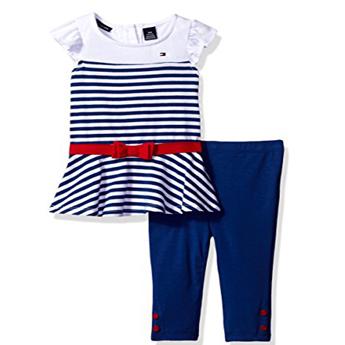 Eredeti új címkés Tommy Hillfiger kék csíkos szett. Tunika és leggings