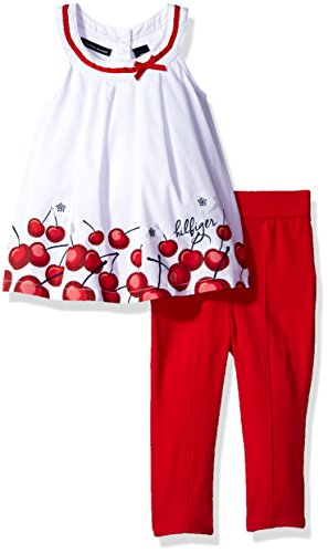 Eredeti új címkés Tommy Hilfiger cseresznyemintás együttes. Tunika és nadrág.