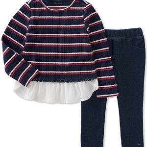 Tommy Hilfiger márkás babaruha kislány szett nadrág pulóver