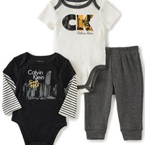 Calvin Klein márkás babaruha 3 részes szett bodyval
