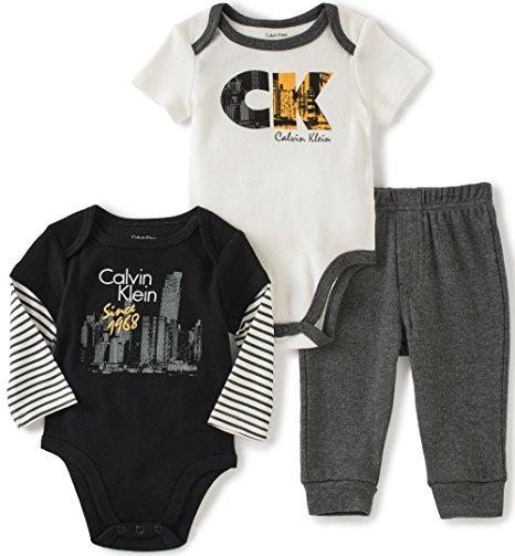 3ef1984ead Calvin Klein márkás babaruha 3 részes szett bodyval