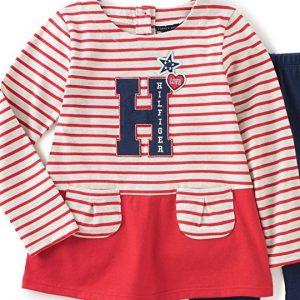 Eredeti, új, címkés Tommy Hilfiger márkás babaruha, kislány hosszú ujjú tunika. Piros csíkos hosszú ujjú felső, tunika. Mérete 18 hó.
