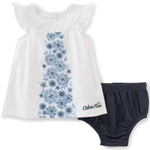 Új, címkés Calvin Klein márkás babaruha, kislány ruha+bugyi.