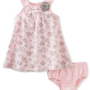 Új, címkés Calvin Klein márkás babaruha, kislány ruha+bugyi