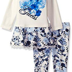 Új, eredeti, címkés Guess márkás babaruha, kislány együttes.
