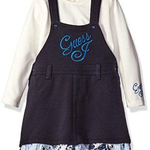 Új, eredeti, címkés Guess márkás babaruha, kislány kantáros ruha.