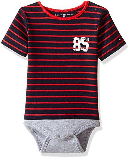 90ed4aba12 Új, eredeti, címkés Tommy Hilfiger kisfiú babaruha, piros csíkos body.