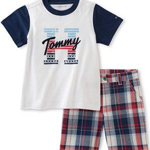 Új, címkés Tommy Hilfiger márkás babaruha, kisfiú együttes.