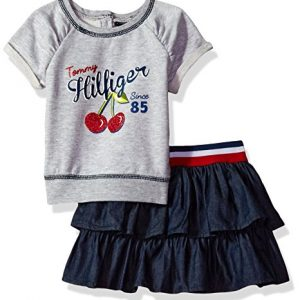 Új, címkés Tommy Hilfiger márkás babaruha, kislány együttes