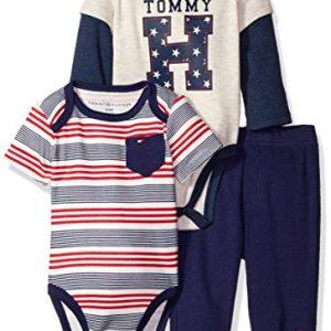 Tommy Hilfiger márkás babaruha 3 részes szett bodyval