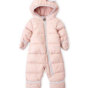 Új, címkés, eredeti Michael Kors márkás babaruha kislány téli kapucnis, rózsaszín overál.