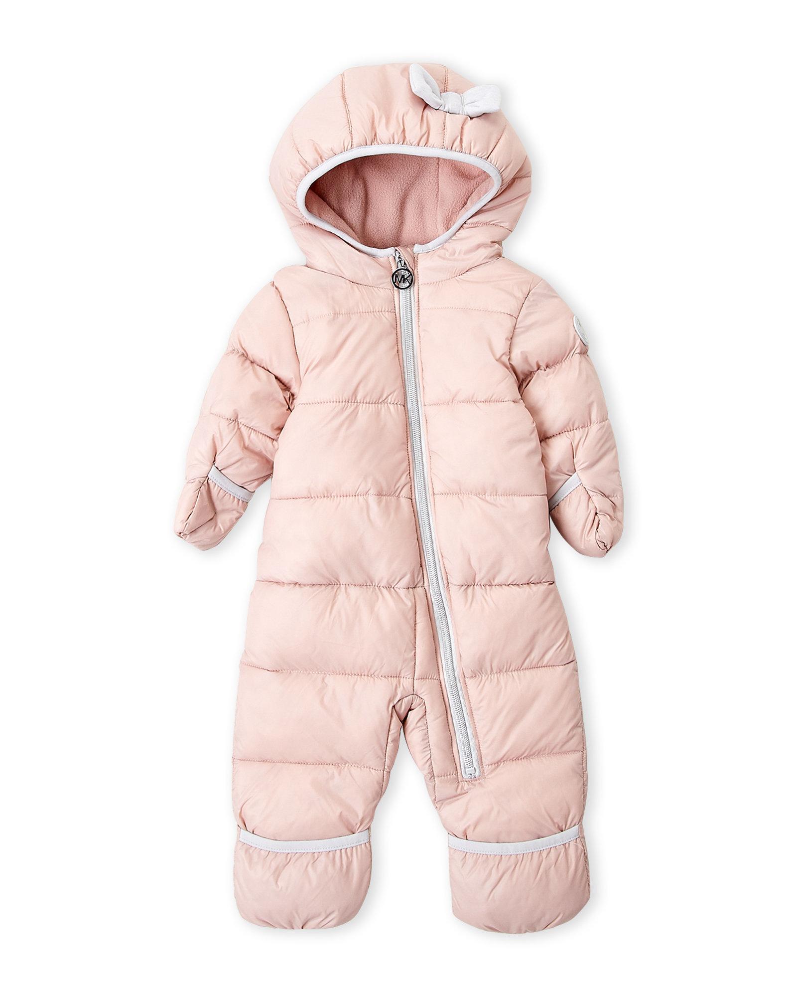 d6a1ac5b05 Új, címkés, eredeti Michael Kors márkás babaruha kislány téli kapucnis,  rózsaszín overál.