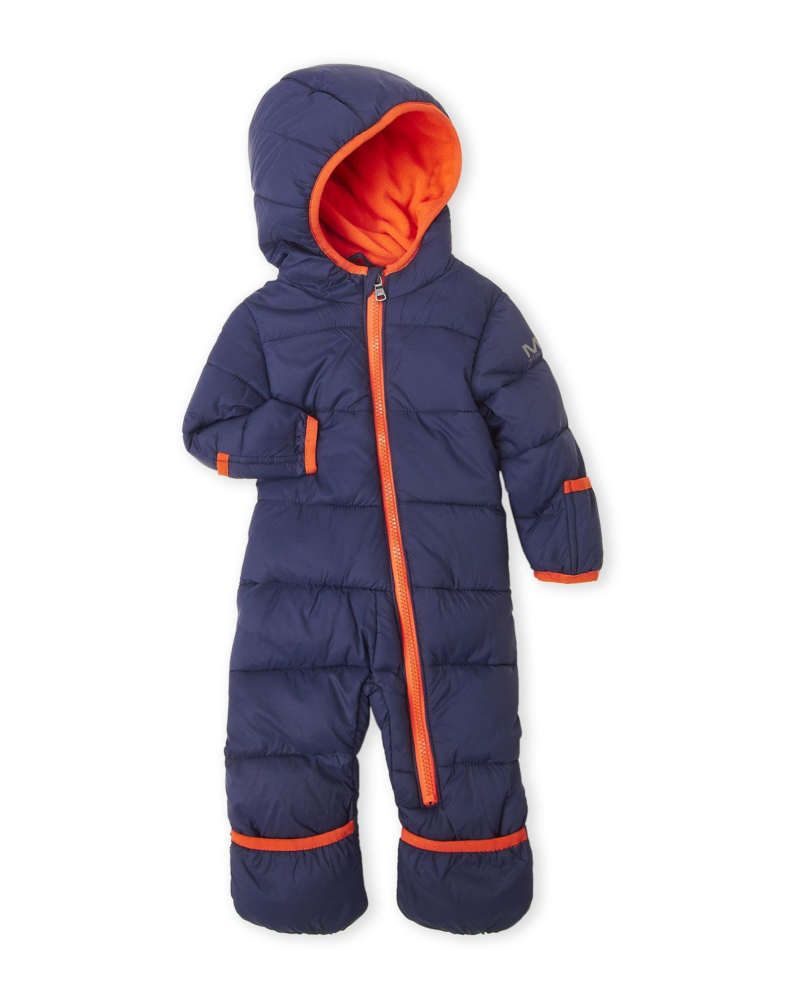 a25f7ed9e5 Új, címkés, eredeti Michael Kors márkás babaruha kisfiú téli kapucnis overál