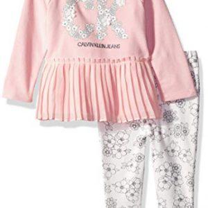 Új, eredeti, címkés Calvin Klein babaruha, kislány kétrészes szett.