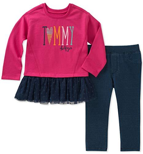 Új, eredeti, címkés Tommy Hilfiger kislány gyerekruha, kétrészes szett.