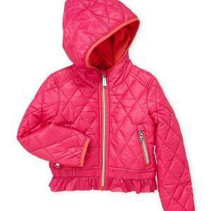 Új, eredeti, címkés, Michael Kors márkás gyerekruha, kislány átmeneti kabát.