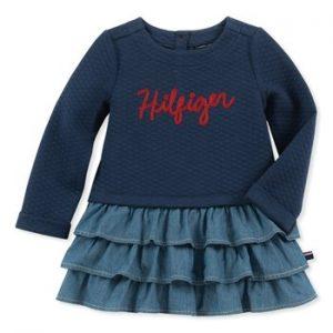 Új, eredeti, címkés Tommy Hilfiger babaruha, kislány hosszú ujjú ruha.