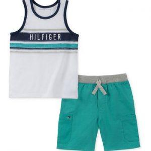 Új, címkés Tommy Hilfiger márkás babaruha, kisfiú nyári szett.