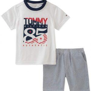Új, címkés Tommy Hilfiger márkás babaruha, kisfiú nyári szett