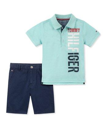 Új, címkés Tommy Hilfiger márkás babaruha, kisfiú kétrészes szett