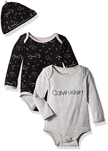 Új, címkés Calvin Klein márkás babaruha, unisex 3részes bodyszett
