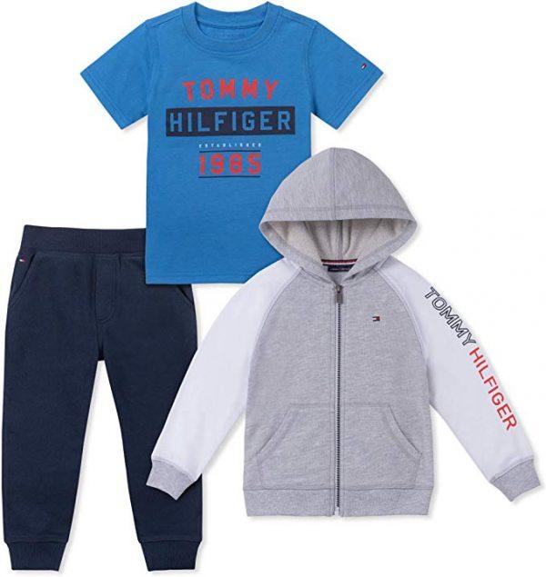 Új, eredeti, címkés Tommy Hilfiger gyerekruha, kisfiú 3részes szett.