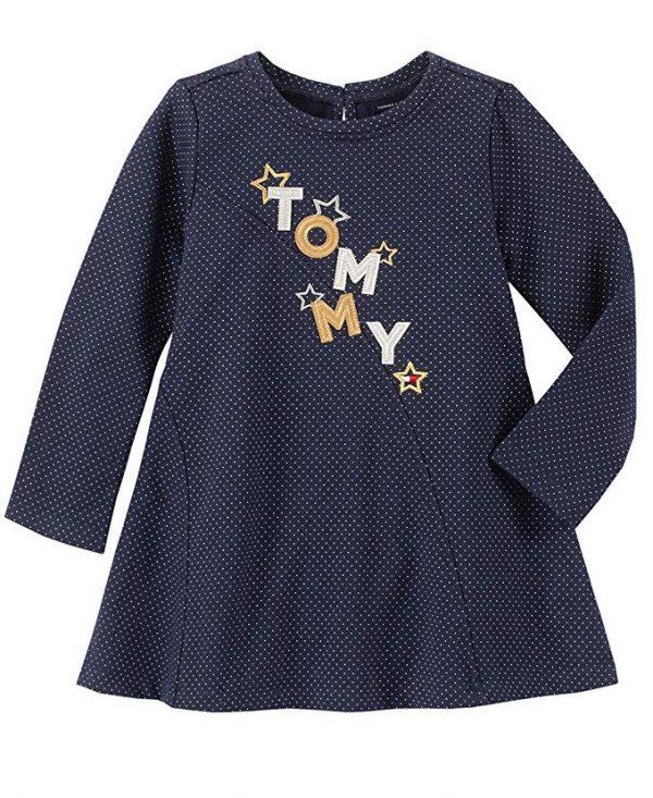 Eredeti, új, címkés Tommy Hilfiger márkás babaruha, kislány hosszú ujjú ruha